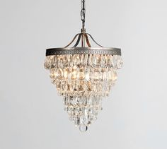 Clarissa Crystal Drop Small Round Chandelier