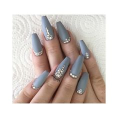 Our favorite nail designs, tips and inspiration for women of every age! Great gallery of unique nail art designs of 2017 for any season and reason. Find the newest nail art designs, trends & nail colors below. Gorgeous Nails, Love Nails, Fun Nails, Nail Lacquer, Nail Polishes, Gel Nail, Gray Nails, Coffin Nails Matte, Pink Nail