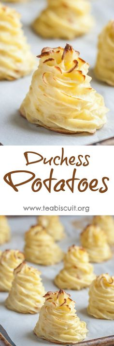 Delicious and easy oven baked Duchess Potatoes | https://teabiscuit.org