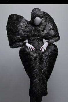McQueen: raven feather dress