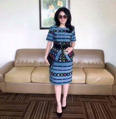 Blouse Batik, Batik Dress, Batik Fashion, Ethnic Fashion, Fabulous Dresses, Pretty Dresses, Kebaya Modern Dress, Philippines Fashion, Myanmar Dress Design
