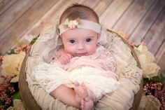 Newborn Girl Photo Prop Newborn Tieback Lace by BabyGraceHats