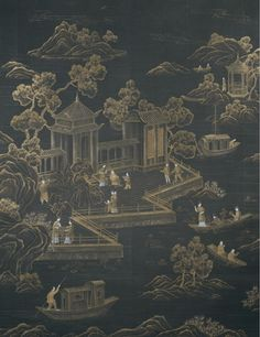hand painted wallpaper :: chinoiserie wallpaper :: silk wallpaper :: chinese wallpaper :: hand painted silk wallpaper :: hand painted chinese wallpaper :: bespoke wallpaper and custom service Hand Painted Wallpaper, Metallic Wallpaper, Painting Wallpaper, Silk Painting, Wallpaper Samples, Gracie Wallpaper, Asian Wallpaper, Chinese Wallpaper, Oriental