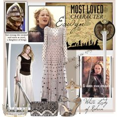 Eowyn of Rohan by nancyreo on Polyvore featuring Temperley London, Via Spiga and Lane Bryant