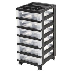 IRIS 6 Drawer Rolling Storage Cart : Target