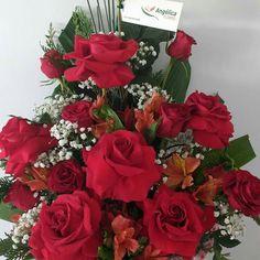 Arranjo de Rosas Colombianas Angélica Flores