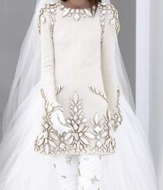 Bejewelled Chanel haute couture wedding gown :)