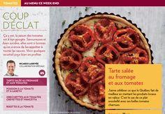 Coup d'éclat - La Presse+ Meal Recipes, Vegetarian Meals, Vegetable Recipes, Tomatoes, Sauces, Brunch, Appetizers, Vegetables, Desserts