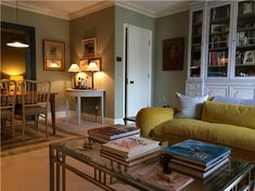 An inspirational image from Farrow and Ball French gray living room