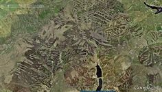 Google Earth view of Walshaw Moor in 2015 Flooding York 2015