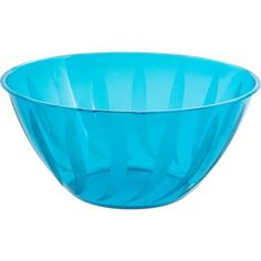 $1.99 Caribbean Blue Plastic Scalloped Container 90oz - Party City ...