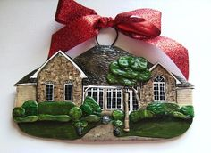 This is so cool! You can actually order an ornament made to look exactly like your house! Would be so cool for first home
