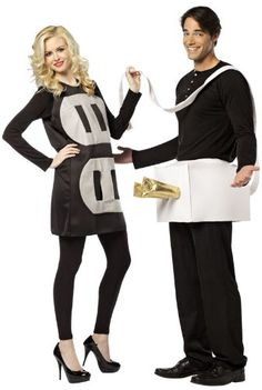 """50 Couples Halloween Costume Ideas - dress up with an adorable couples costume for you and your """"boo!"""" So many his and her Couples Halloween Costumes! Cute Couples Costumes, Couples Halloween, Easy Diy Costumes, Cool Costumes, Costumes For Women, Costume Ideas, Costumes 2015, Crazy Costumes, Funny Couples"""