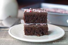Gluten-Free Vegan Peppermint Truffle Brownies via @gfpalate
