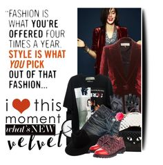"""I love this moment"" by no-where-girl ❤ liked on Polyvore featuring Emilio Pucci, Thomas Wylde, Betsey Johnson, rag & bone, Anouki and velvet"