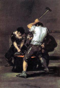 The Forge, 1812, Francisco Goya Size: 125x181.6 cm Medium: oil, canvas