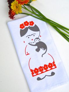 Frida Kahlo Tea Towel. Kitchen Towel. Hand Towel. Hand by titiluli