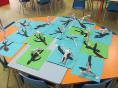 Les danseurs et leur ombre Teamwork Activities, First Grade Art, Grande Section, Ecole Art, Reggio Emilia, Keith Haring, Art Lesson Plans, Outdoor Art, Art Plastique
