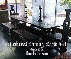 How to build a Medieval Dining Room Set