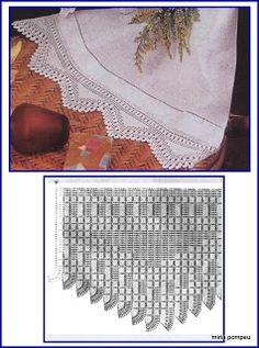MIRIA CROCHÊS E PINTURAS: BARRADOS DE CROCHÊ COM FORMAS GEOMÉTRICAS