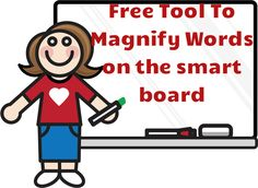 Free tool to magnify spelling or vocabulary words on the smart board. This cool tool will turn your smart board into an interactive word wall. Check it out to see it in action!