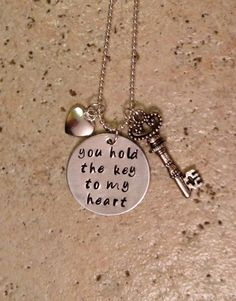 You Hold the Key to My Heart / Hand Stamped by BrandedBlessings