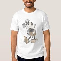 Diseño del desastre del vintage de Mickey Mouse Polera