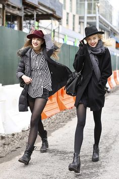 Models off duty - hats and boots