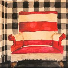 Striped Chair by Kate Lewis