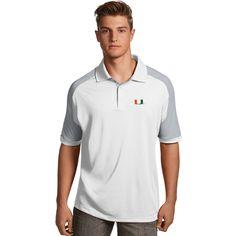 Men's Antigua Miami Hurricanes Century Polo, Size: Medium, White
