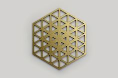 Mesh Network Coasters #COZODesign #sacredgeometry #hexagon #geometricart