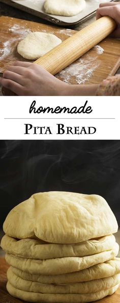 Homemade Greek Pita Bread isn't hard to make! You simply need a hot oven, fresh yeast, and a few tricks to make yummy pocket bread. | justalittlebitofbacon.com