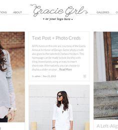 Gracie Girl modern wordpress theme for Women 2015