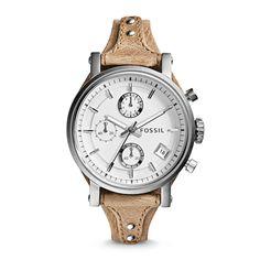 Original Boyfriend Chronograph Leather Watch - Bone