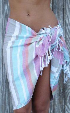 Skirt Summer Beach, Spring Summer, Caravan Holiday, Swimming Gear, Beach Accessories, Turkish Towels, Beach Towel, Off Shoulder Blouse, Summertime