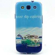 Κάλυμμα πίσω μέρους/Ολόσωμες Θήκες - Γραφικό/Ειδικός Σχεδιασμός - Samsung Mobile Phone - για Samsung S3 I9300 Πλαστικό/PU Δέρμα )