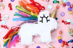 Um, You Need To Make These Mini Unicorn Piñatas ASAP