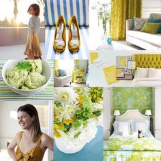 aqua, chartreuse, and kiwi - fresh and bright colors for a unique wedding with room for vintage touches