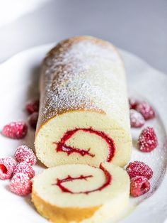 This bakery swiss roll cake recipe is direct from my family s three generations of professional bakers Incredibly light and fluffy this will be the best swiss roll cake you ll ever taste rollcake swissrollcake cakerecipes desserts valentinesdaydesserts Swiss Roll Cakes, Swiss Cake, Jelly Roll Cakes, Jelly Rolls, Food Cakes, Cupcake Cakes, Köstliche Desserts, Dessert Recipes, Plated Desserts