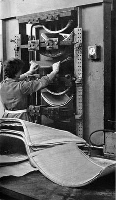 Shell production back in the old days.