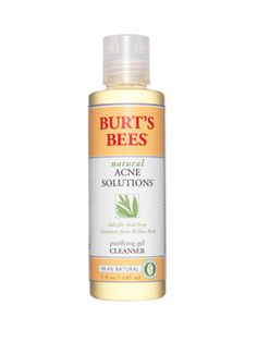 Burt's Bees Acne Solutions. THIS STUFF IS AMAZING! I washed my face with it last night and literally this morning my face is pretty much clear!! And it's only $10!