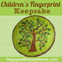 650 Childrens Fingerprint Keepsake HappyandBlessedHome.com