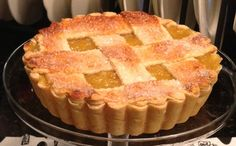 Perfect Flaky Pie Crust...in a Kitchenaid mixer with a dough hook, place 3 c. flour, dash salt, 1-1/4 c. shortening. Mix till resembles pebbles. Keep mixing, add 1T. vinegar, 1egg, 6 T. cold water. Divide into 4 crusts and freeze. To use, thaw 30 minutes and you're ready to roll!
