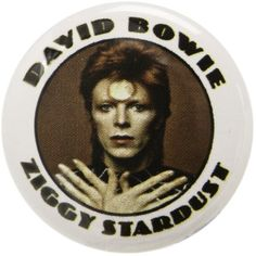 DAVID BOWIE ZIGGY STARDUST BUTTON ($1) ❤ liked on Polyvore featuring ziggy