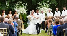 White wedding | See more wedding photography at Gandy Photographers