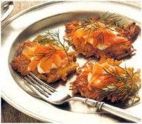 Crispy Potato Pancake And Smoked Salmon Canapés