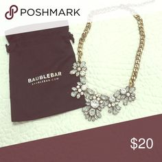 BaubleBar gold and crystal necklace Elegant Jewelry Necklaces