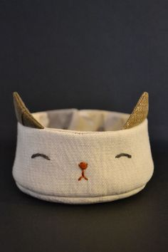 little kitten fabric bowl.