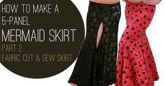 How to Make a Mermaid Skirt Part 2: Fabric, Cut & Sew