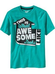 Boys Bold-Statement Tees | Old Navy